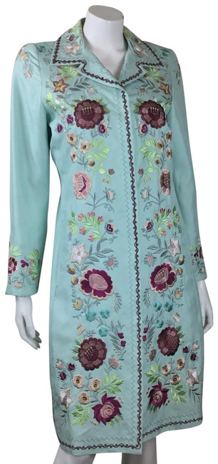Preload https://img-static.tradesy.com/item/24608328/biya-blue-silk-embroidered-coat-size-12-l-0-1-650-650.jpg