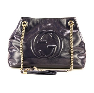 Gucci Cross Body Patent Leather Shoulder Bag
