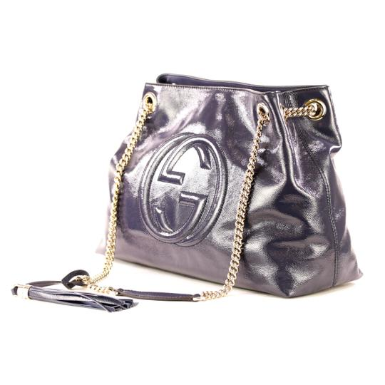 Gucci Cross Body Patent Leather Shoulder Bag Image 2