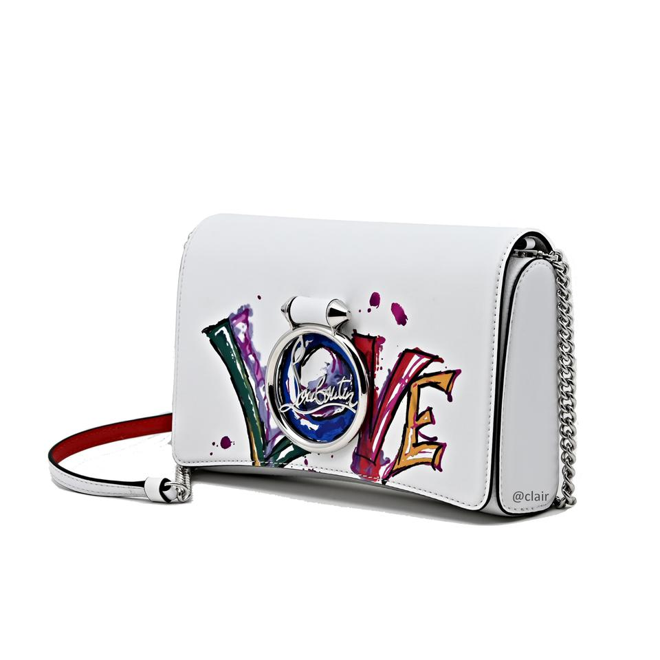 ab0d250a251 Christian Louboutin Clutch Rubylou White Leather Cross Body Bag 14% off  retail