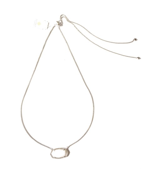 Kendra Scott Brand New Kendra Scott Delaney SILVER Slider Necklace in White Pearl Image 6