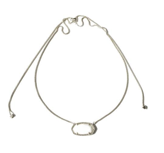 Kendra Scott Brand New Kendra Scott Delaney SILVER Slider Necklace in White Pearl Image 7