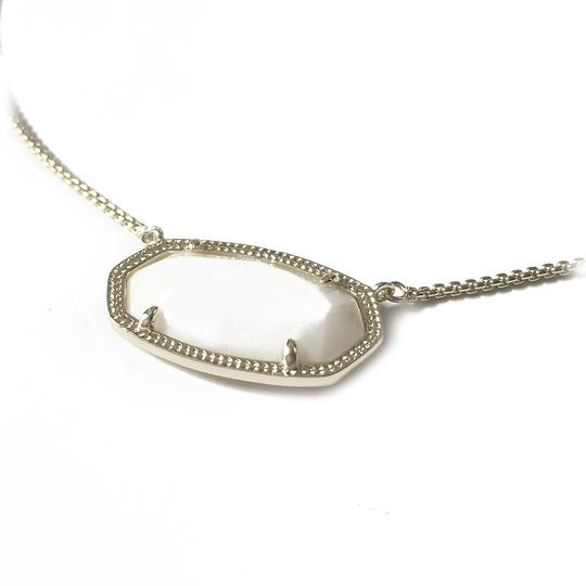 Kendra Scott Brand New Kendra Scott Delaney SILVER Slider Necklace in White Pearl Image 9