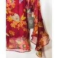 Vince Camuto Bell Sleeve Floral Flowy Long Sleeve Attached Cami Top Red Image 2