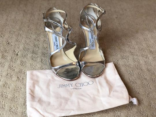 Jimmy Choo Silver Pumps Image 3