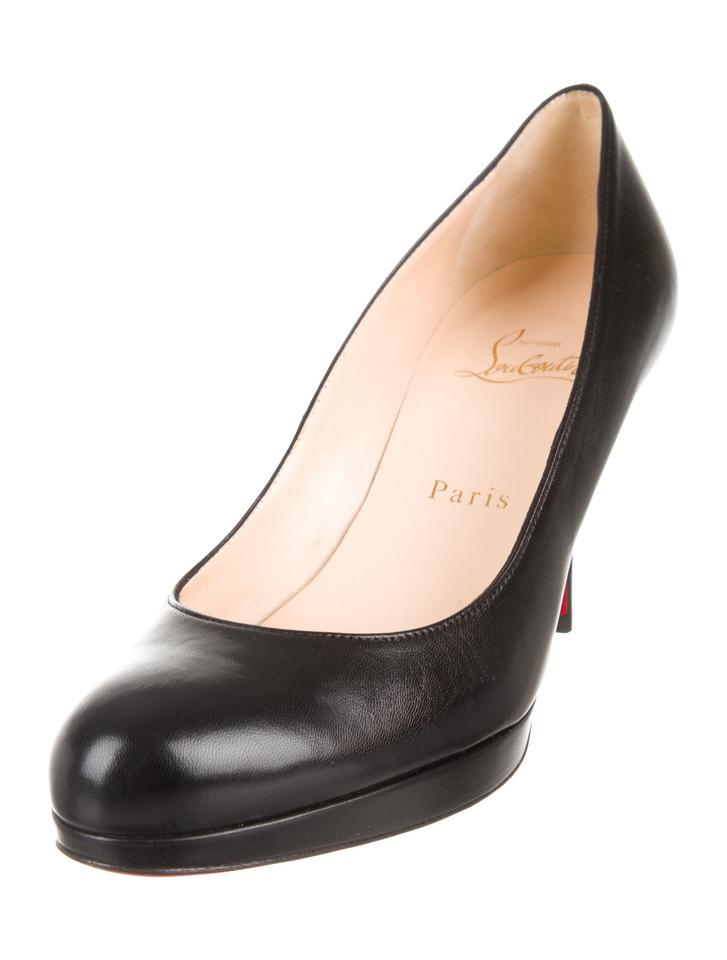dc5469cfd054 Christian Louboutin Black New New Simple Leather 8 Pumps. Size  EU 38 ...