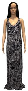 Navy, Blue, White Maxi Dress by Cynthia Rowley Long Tall Palm Tropical Jersey