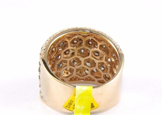 Other Fancy Color Round Diamond Wide Cluster Cigar Ring Band 14k RG 4.72Ct Image 6