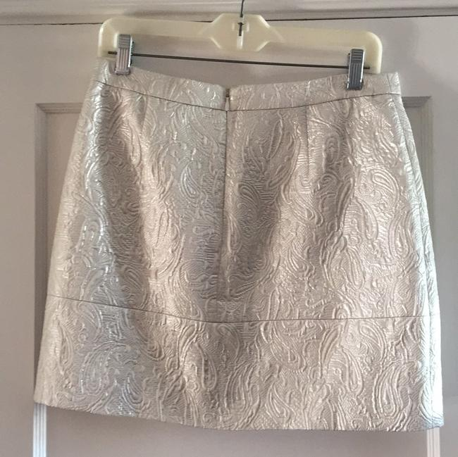 J.Crew Mini Skirt silver Image 1