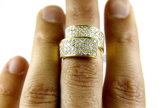 Other Bypass Round Diamond Cluster Ladys Ring Band 18k Yellow Gold 2.50Ct Image 1