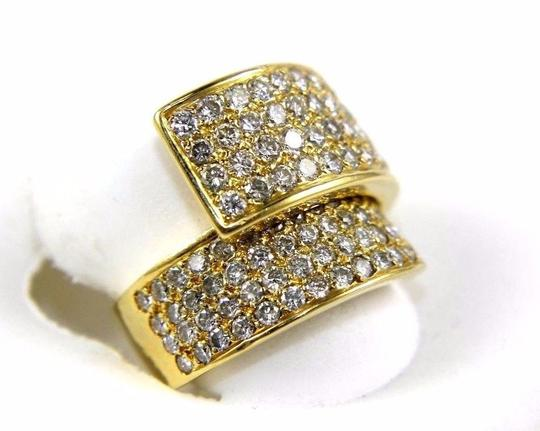 Other Bypass Round Diamond Cluster Ladys Ring Band 18k Yellow Gold 2.50Ct Image 2