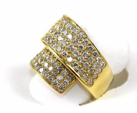 Other Bypass Round Diamond Cluster Ladys Ring Band 18k Yellow Gold 2.50Ct Image 3