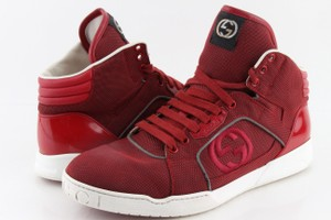 Gucci Red Men's Rebound Mid High-top Sneaker Shoes