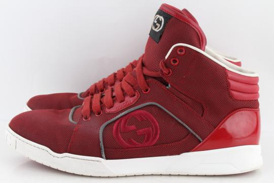 Gucci Red Men's Rebound Mid High-top Sneaker Shoes Image 1
