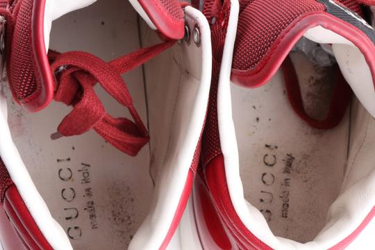 Gucci Red Men's Rebound Mid High-top Sneaker Shoes Image 11