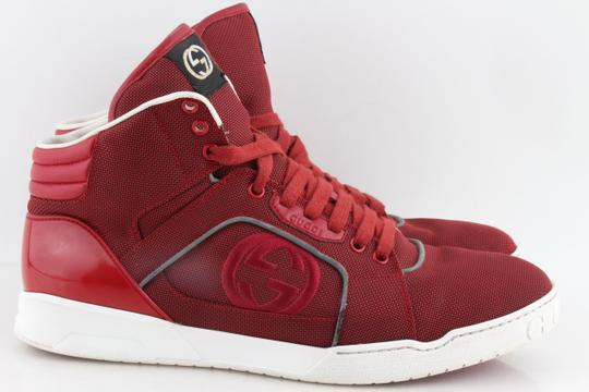 Gucci Red Men's Rebound Mid High-top Sneaker Shoes Image 2