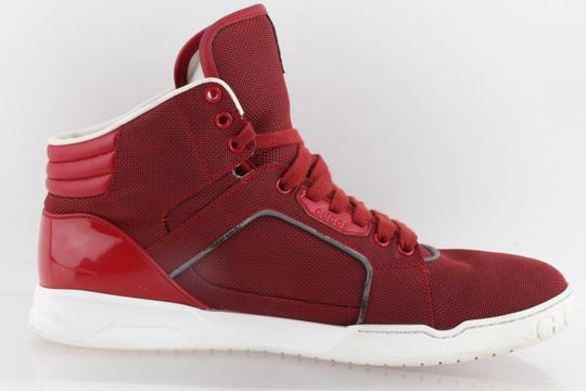 Gucci Red Men's Rebound Mid High-top Sneaker Shoes Image 4