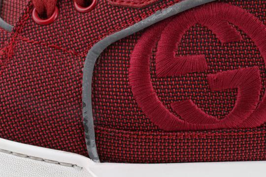 Gucci Red Men's Rebound Mid High-top Sneaker Shoes Image 8