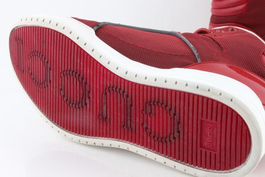Gucci Red Men's Rebound Mid High-top Sneaker Shoes Image 9