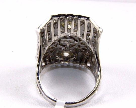 Other Tall Round Diamond 3 Stone Cluster Ring 14k White Gold 2.35Ct Image 7