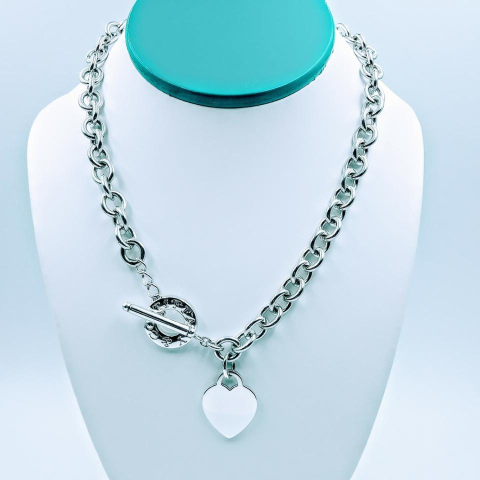 f8935f8b1 Tiffany & Co. Heart charm Toggle necklace sterling silver Image 0 ...
