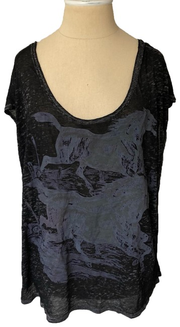 Free People T Shirt black and gray Image 0