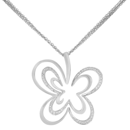 Preload https://img-static.tradesy.com/item/24608845/white-diamond-pendant-clover-butterfly-pave-encrusted-on-a-chain-020cts-necklace-0-0-540-540.jpg