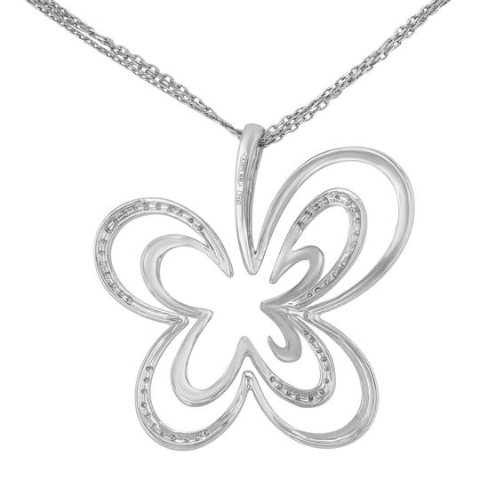 Saya Diamond Pendant Clover Butterfly Pave Encrusted on A Chain 0.20cts Image 1