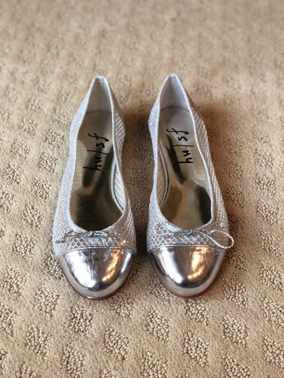 French Sole Silver Flats Image 5