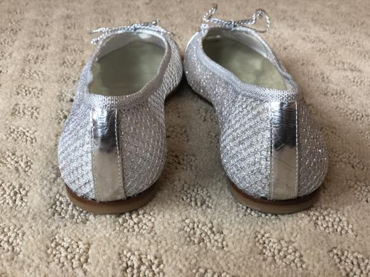 French Sole Silver Flats Image 6