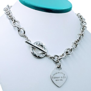 Tiffany & Co. Please return to heart tag toggle necklace
