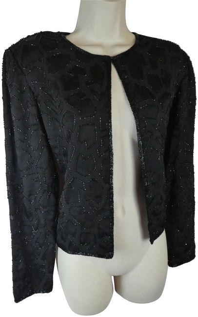 Preload https://img-static.tradesy.com/item/24608894/papell-boutique-black-evening-s-cardigan-beaded-blouse-size-6-s-0-1-650-650.jpg