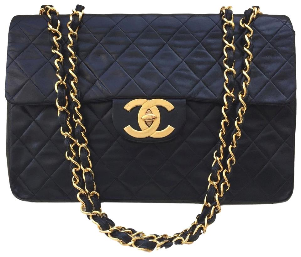 bdbfcd9d789c Chanel Classic Flap Vintage Quilted Jumbo Xl Maxi Double Chain ...