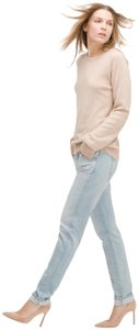 AG Adriano Goldschmied Skinny Stretch Selvedge Denim Pants Relaxed Fit Jeans-Light Wash