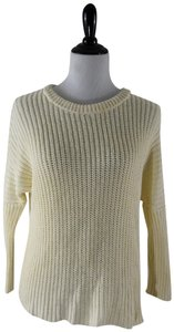 Madewell Knit Crochet Chunky Preppy Pearl Sweater