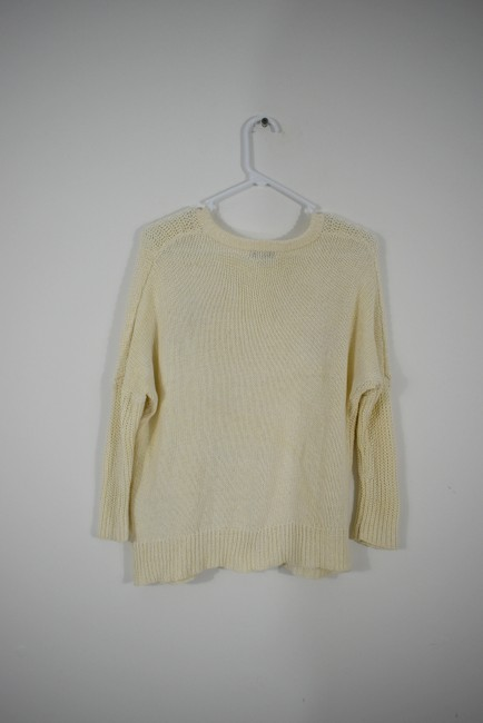 Madewell Knit Crochet Chunky Preppy Pearl Sweater Image 2