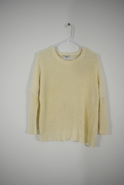 Madewell Knit Crochet Chunky Preppy Pearl Sweater Image 3