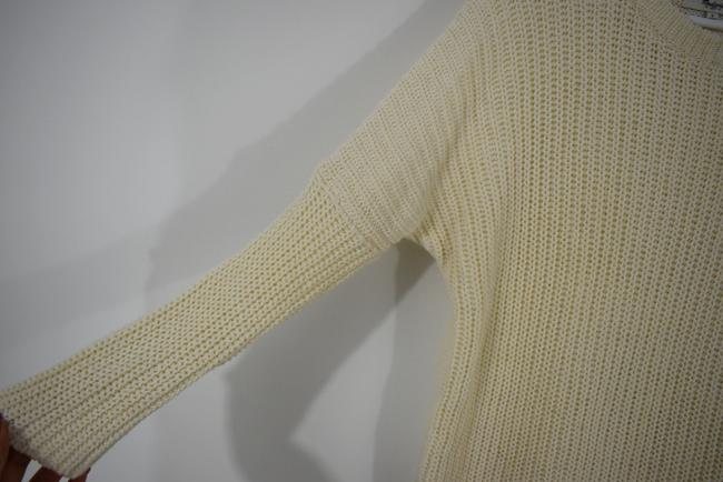 Madewell Knit Crochet Chunky Preppy Pearl Sweater Image 4