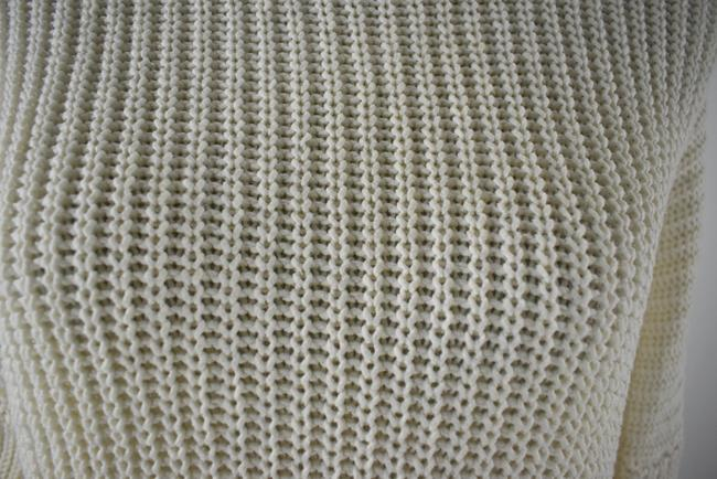 Madewell Knit Crochet Chunky Preppy Pearl Sweater Image 5