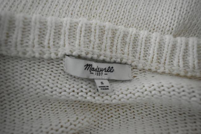 Madewell Knit Crochet Chunky Preppy Pearl Sweater Image 6