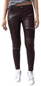 Zara Skinny Pants BROWN/WINE - item med img