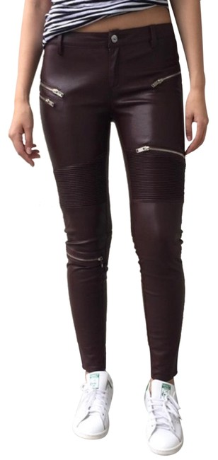 Zara Skinny Pants BROWN/WINE Image 0