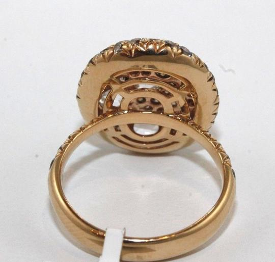 Other Round Rose Cut Champagne Diamond Cluster Ring 18k Rose Gold 2,92Ct Image 2
