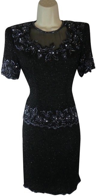 Preload https://img-static.tradesy.com/item/24609026/black-beaded-sequin-mid-length-formal-dress-size-petite-6-s-0-1-650-650.jpg