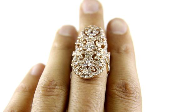 Other Fancy Filigree Cluster Diamond Ring Band w/Accents 14k RG 3.74Ct Image 4