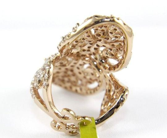 Other Fancy Filigree Cluster Diamond Ring Band w/Accents 14k RG 3.74Ct Image 7