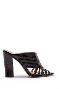 Tory Burch Peep Toe Summer Casual Tortoise Shell Mules