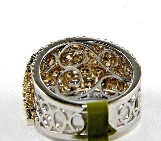 Other Fancy Color Diamond Round Cluster Cigar Ring Band 14k WG 5.33Ct Image 2