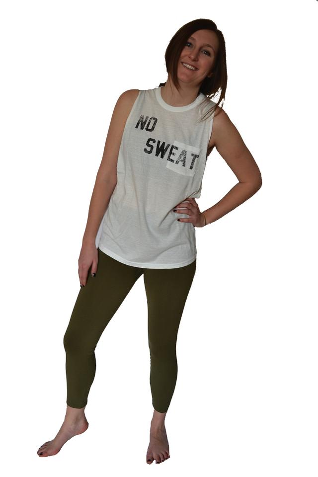 843fddca2ffd4 Free People White No Sweat Activewear Top Size 8 (M) - Tradesy