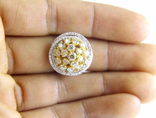 Other Yellow Diamond Round Ring w/Accents 14k White & Yellow Gold 3.42Ct Image 1